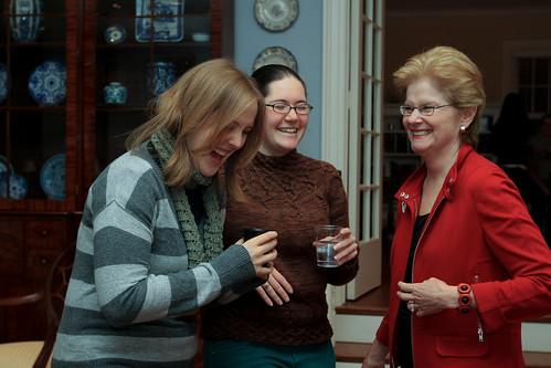 Sharing a Laugh: President Hosts Study Break at Bryn Mawr