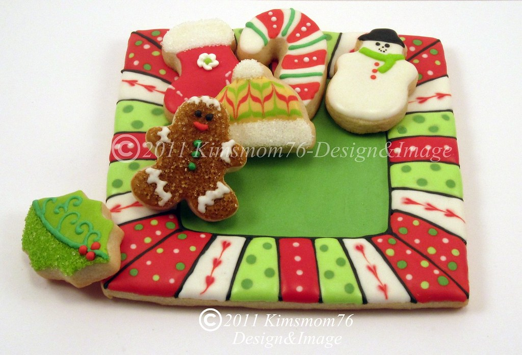 Edible Cookie Plate With Mini Christmas Cookies I Will Be Flickr