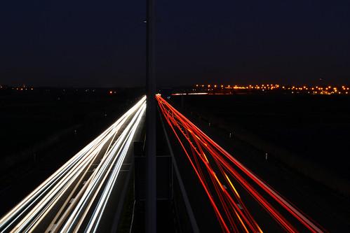 sunset traffic a10 autosnelweg jabbeke
