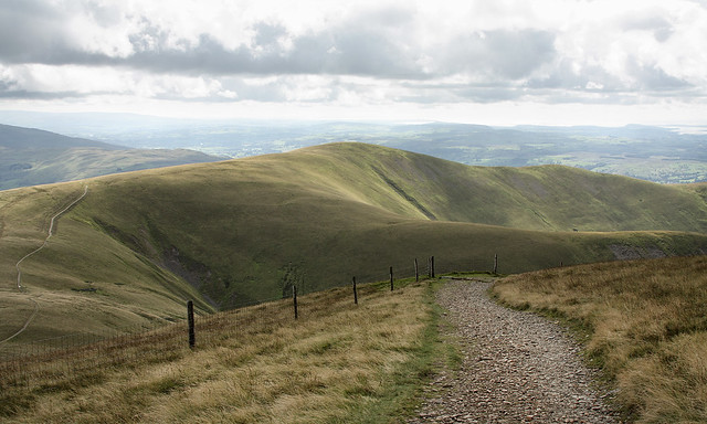 Arant Haw, Howgill Fells near Sedbergh, Yorkshire Dales National Park, Cumbria, UK