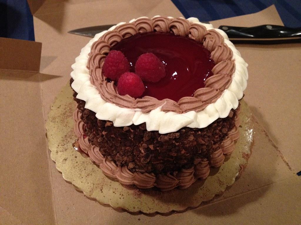 Wondrous Chocolate Raspberry Birthday Cake Bsalomon Flickr Personalised Birthday Cards Arneslily Jamesorg