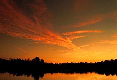 sunset sky lake reflection water sunshine twilight pond southcarolina monte lowcountry maranatha monckscorner mdggraphix lowcountrysunset lowcountrysunsets