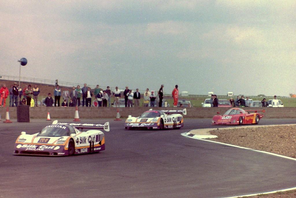 The winning Jaguar XJR-8 - Cheever & Boesel leads team mat ...