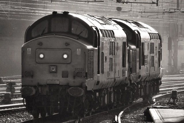 Class 37's, 37229 and 37087, Direct Rail Services (DRS).