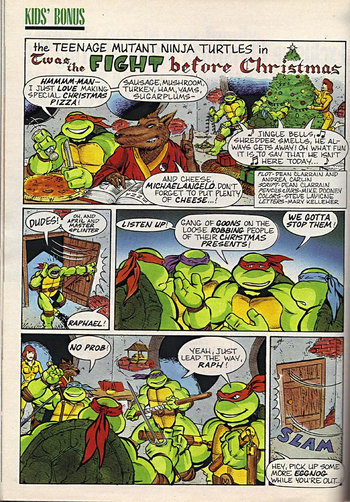 """Ladies Home Journal :: """"The TEENAGE MUTANT NINJA TURTLES in 'Twas the FIGHT before Christmas' // pg. 68 (( December 1990 )) by tOkKa"""