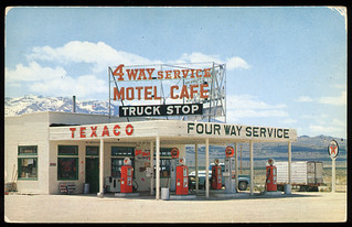 4 Way Service Station, 1950's | by Roadsidepictures