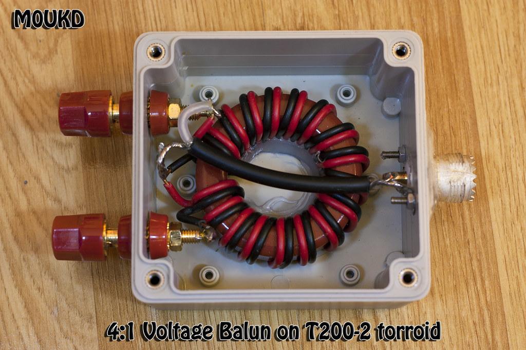4:1 Ruthroff Voltage Balun | 4:1 Ruthroff Voltage Balun woun