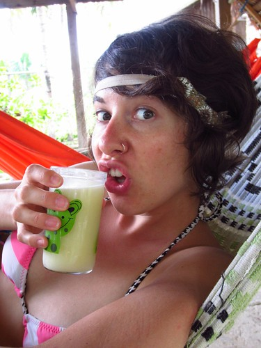Colombia: Drinking Cupuaçu Juice at the Mahatu Hostel in Leticia