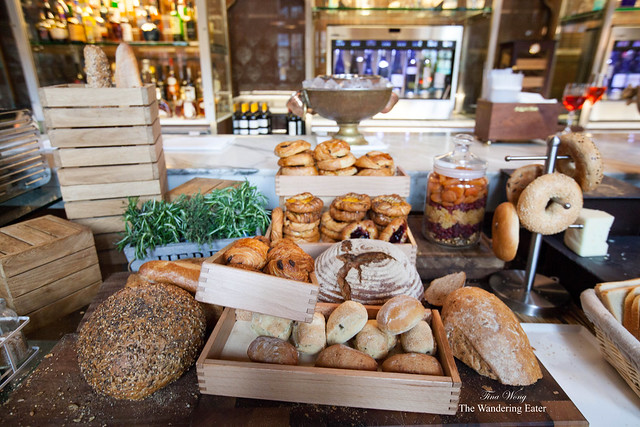 Breakfast breads and pastries at The Booking Office