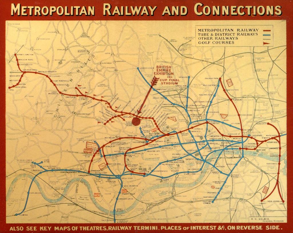 London Underground Rail Map.London Metropolitan Railway Underground Map 1923 Post Flickr