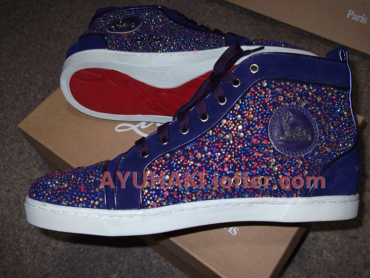 save off b806e cdbb1 Christian Louboutin mens velvet purple crystal shoes | Flickr