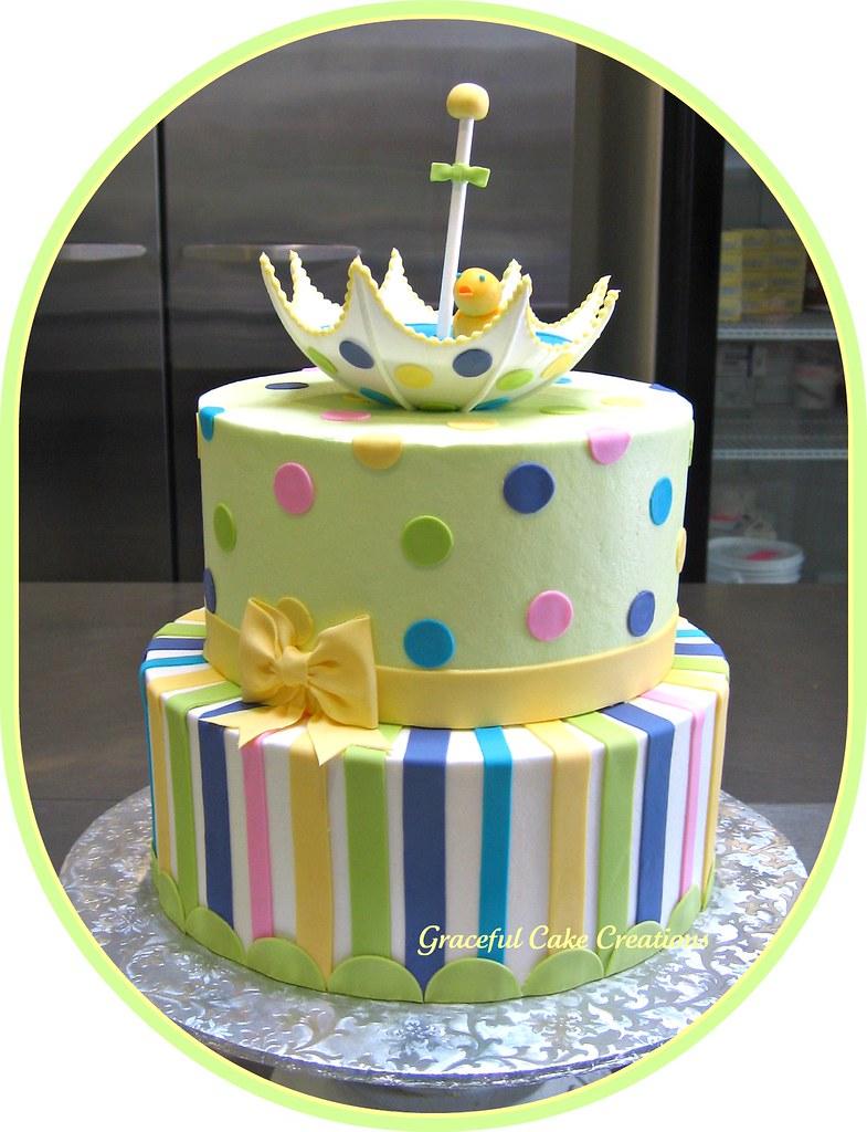 Gender Neutral Baby Shower Cake | Grace Tari | Flickr
