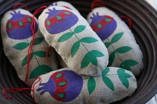 Pomegranates - my 2011 ornaments