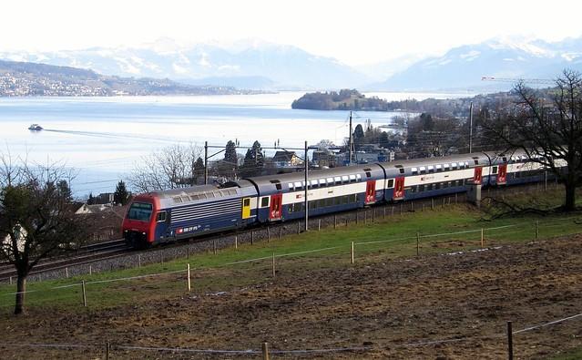 S-Bahn Zurich near Oberrieden Switzerland 2012