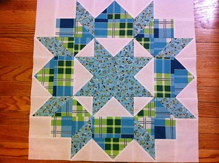 Blue & Green Swoon Quilt Block #5