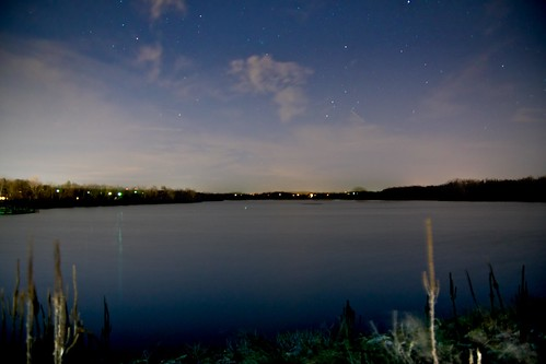 lake water night dark stars nighttime nightime hdr fayetteville