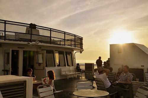 ocean light sunset people beach girl ferry sunrise golden marthas vineyard am doing what leak