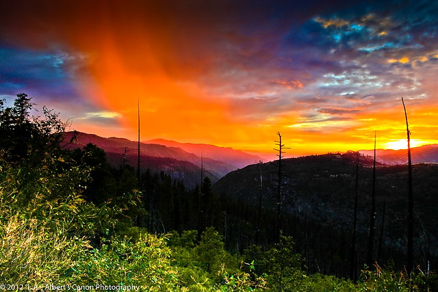 Lava from the Sky, painted by the Sunset at Yosemite!      (Explore Front Page  01.23.12)