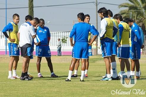 El Puebla FC continua su preparación, realizando trabajo técnico – táctico en el Deportivo la Noria de cara al partido de la Jornada 4 TC2012 donde enfrentara a Jaguares de Chiapas por Mv Fotografía Profesional / www.pueblaexpres.com IMG_0027