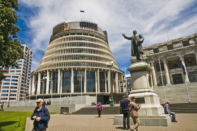 The Beehive - Executive branch 0f the New Zealand Parliament