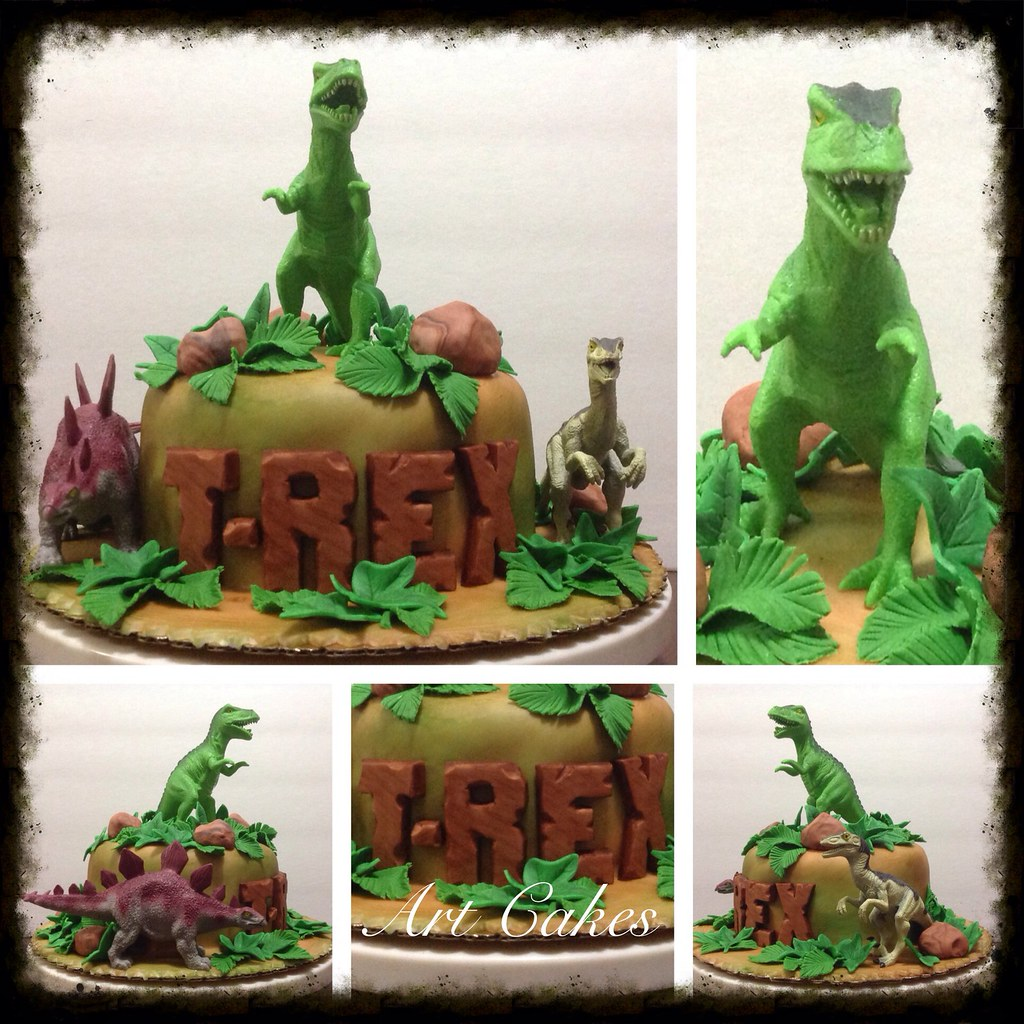 Brilliant T Rex Birthday Cake Nora Rexach Flickr Personalised Birthday Cards Paralily Jamesorg