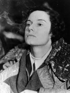 Famous aviatrix Jean Batten following her flight from England to Australia, 1934