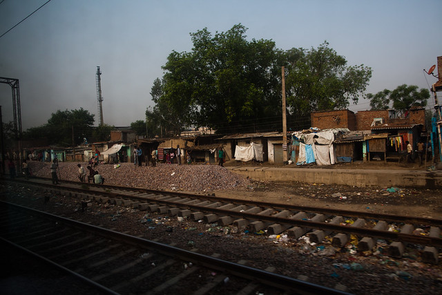 A View from a First Class Carriage Outside of New Delhi #5