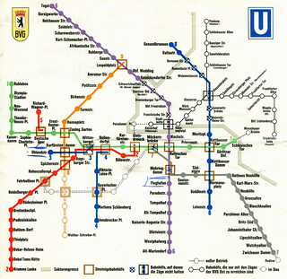 Subway Map 1970s.Berlin U Bahn Subway Map 1970 A Map Of Berlin S U Ba Flickr