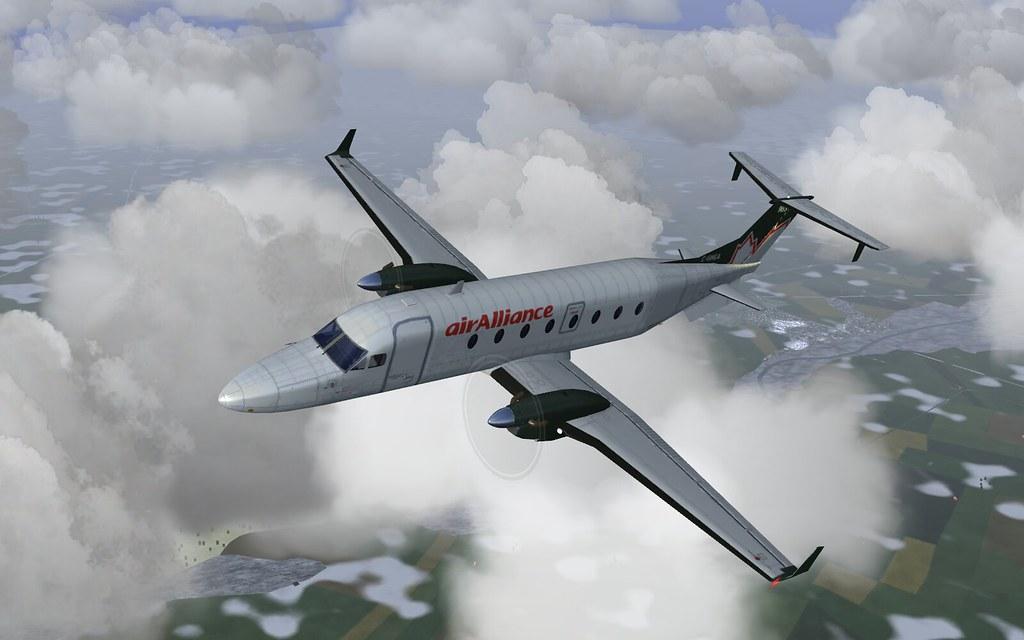 Air Alliance b1900d - flightgear | My air Alliance livery fo… | Flickr