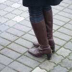 high heel knee high boots