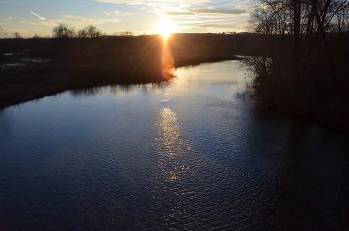 winter sunset water scenic