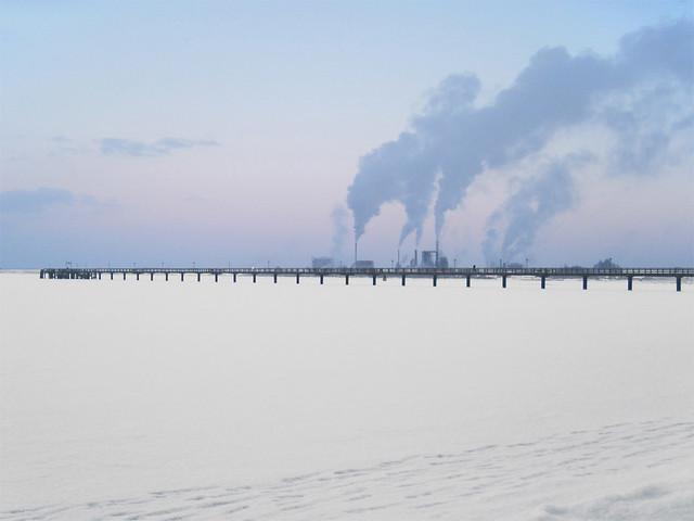 Wismar (Wendorf) - Frozen Baltic Sea