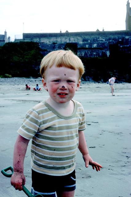 Stew; on the beach - Thurso [1984]