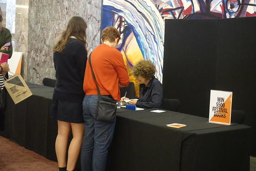 Susie Orbach at the signing desk