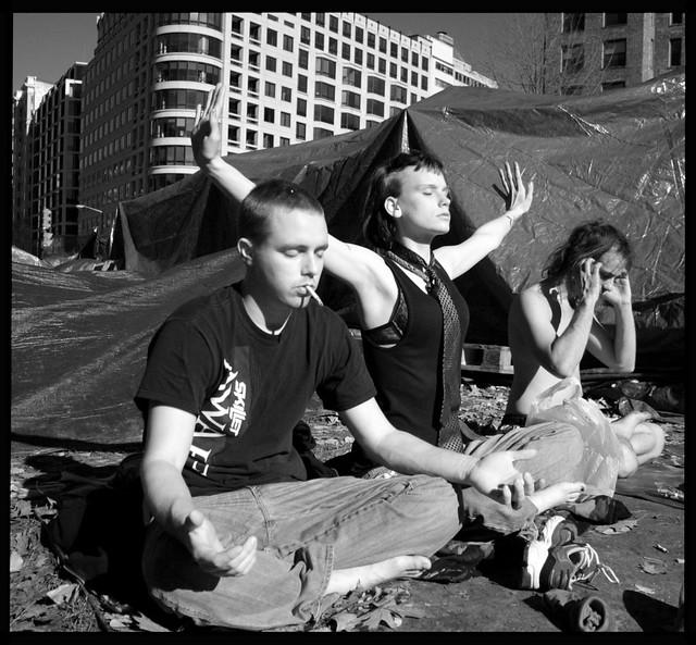 Occupy Wall Street Zen, Wash, DC, Thanksgiving Day