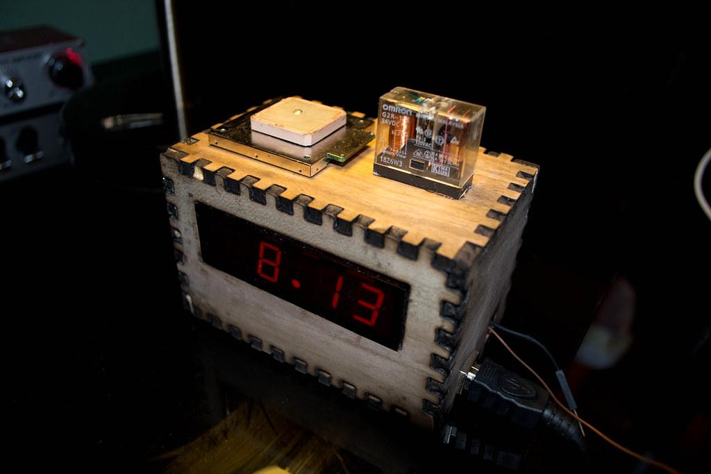My GPS-set ticking digital clock   It's made with an Arduino