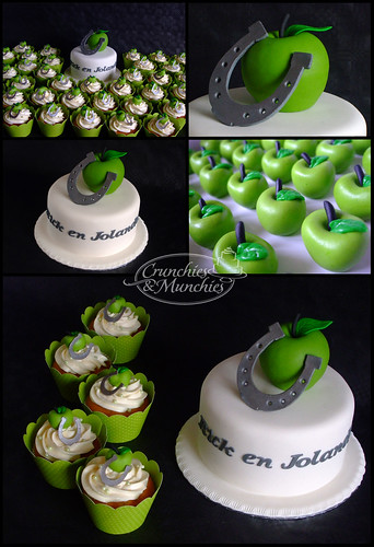 Apple wedding cake and cupcakes | by Crunchies and Munchies