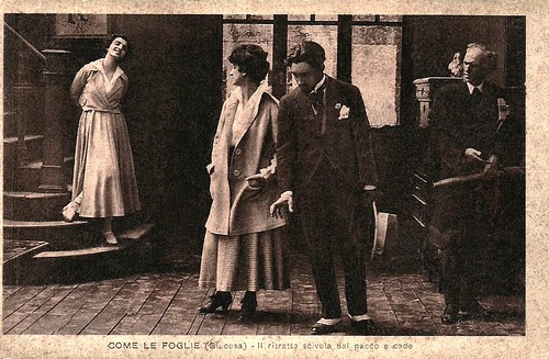 Maria Jacobini in Come le foglie (1917)