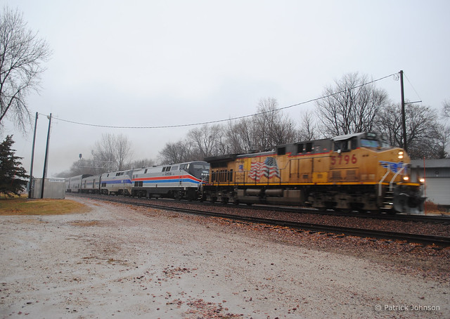 Amtrak #6 Detour with 40th Anniversary Heritage Units