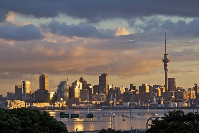 Golden Auckland Sunset
