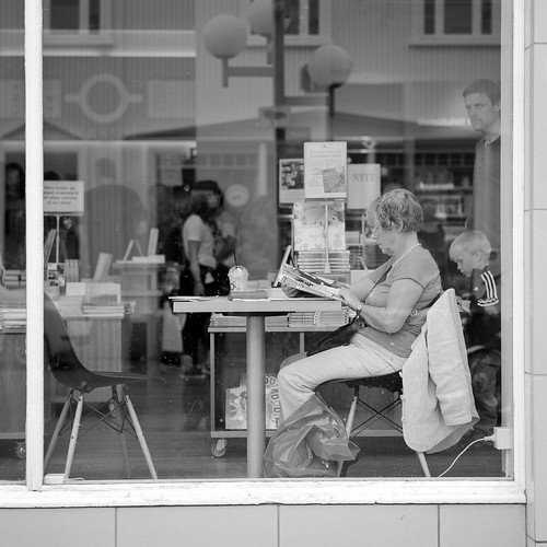 """Image titled """"Book Shop, Akureyri, Iceland."""""""