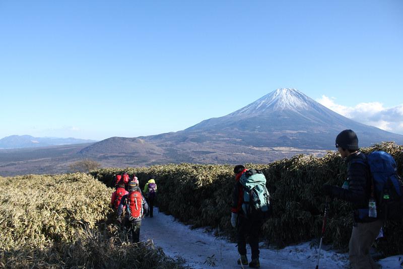 竜ヶ岳下山