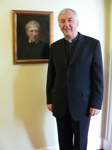 Archbishop Vincent Nichols with portrait of Blessed Cardinal Newman