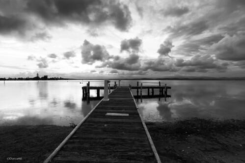 blue blackandwhite lake clouds grey pier belmont jetty sigma1020 squidsink canon7d dorcam16