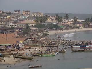 Elmina Landing Beach Seaside Ghana West Africa