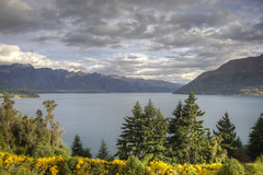 Lake Wakatipu from the Mercure Queenstown in HDR