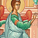 Detail of the Archangel Gabriel from the icon of the Annunciation from Monastery Icons