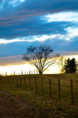 blue trees sunset usa cloud green field grass fence project landscape nikon hill windy wv westvirginia 365 hay build 366 d5100 365febfave01
