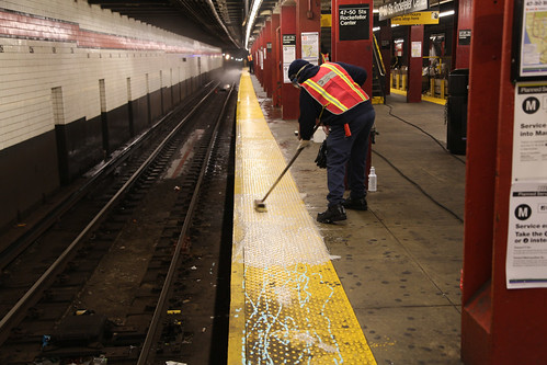 Cleaning Platform Tiles, | by MTAPhotos