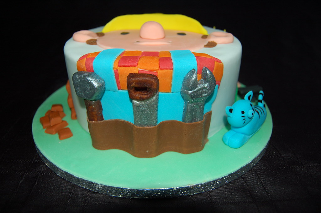 Brilliant Bob The Builder Birthday Cake Chocolate Biscuit Cake With Flickr Funny Birthday Cards Online Elaedamsfinfo